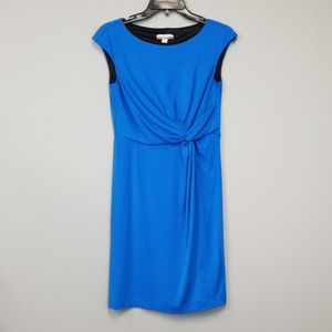 Boston Proper muse blue cocktail party dress